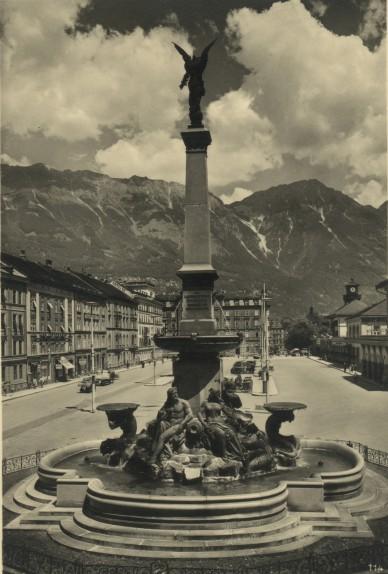 Der ehemalige Vereinigungsbrunnen